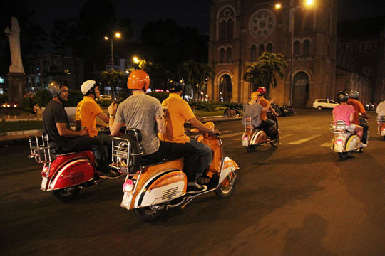 Saigon After Dark On Vespa Tour