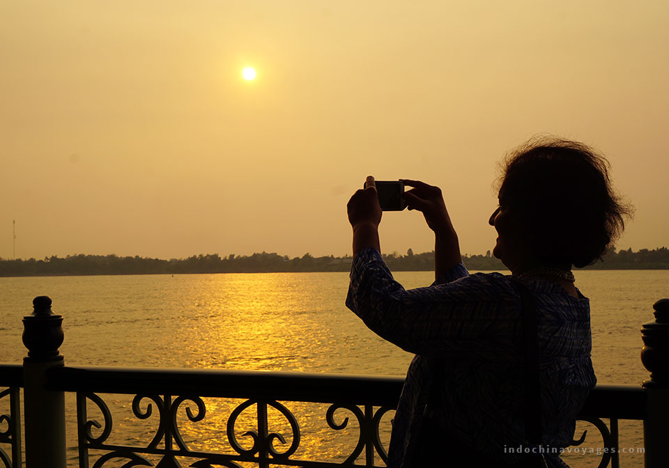 Sunset-in-Mekong-river