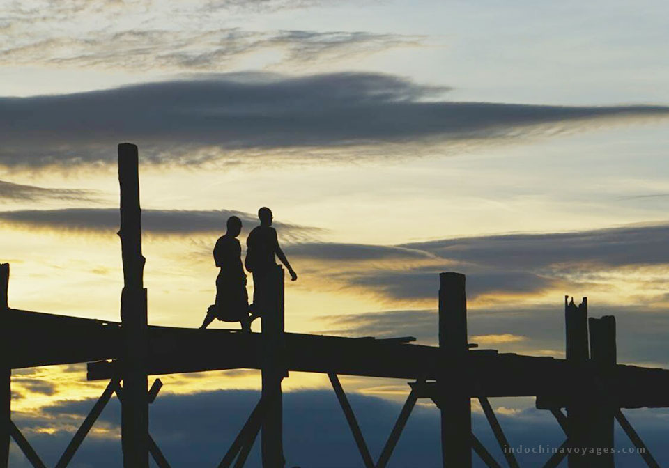 U Bein Bridge -MANDALAY Myanmar
