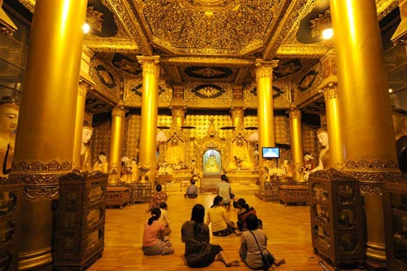 Praying in the prayer hall