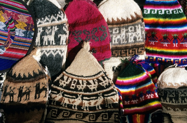 Peru, Puno Province, Puno, crafts, knitted caps