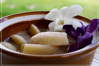 Fresh banana inside Kluay Buat Chee