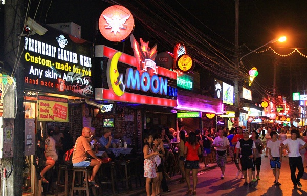 Busy Atmosphere Every Night In Patong Beach