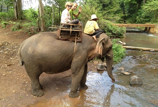 Elephant ride in Banlung