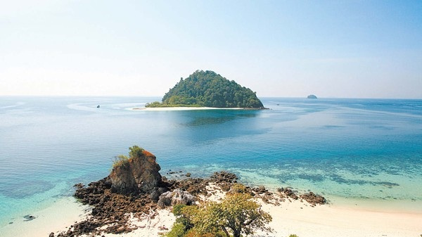 One of many inhabitant islands in Mergui Archipelago