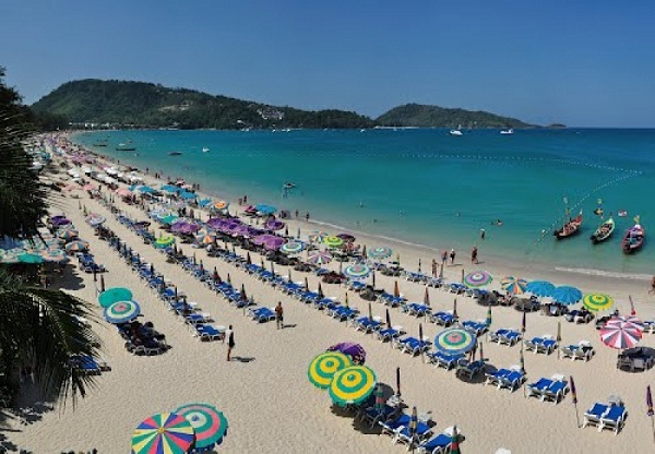 Patong Beach seen from above
