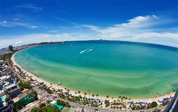 Pattaya beach overview