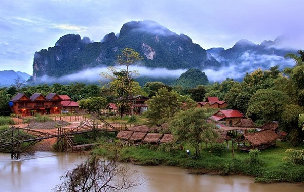 Vang Vieng at dawn