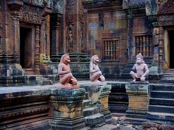 These distinct sculptures are one of the highlights of visiting Banteay Srei Temple.