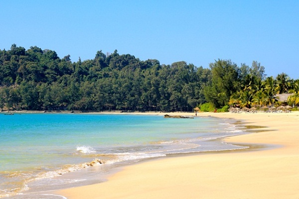 Ngapali beach is famous for its natural beauty and wild