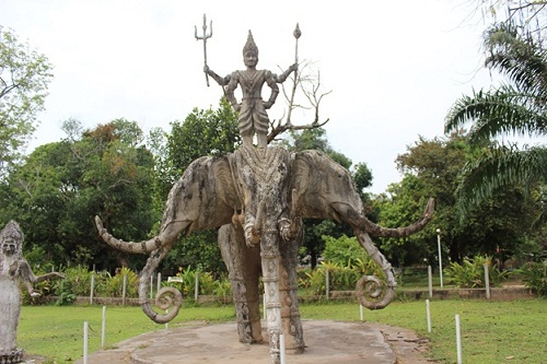 The Indra- king of Hindu gods