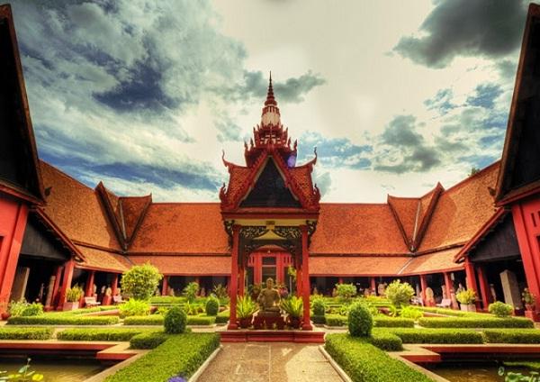 A stupa inside the compound