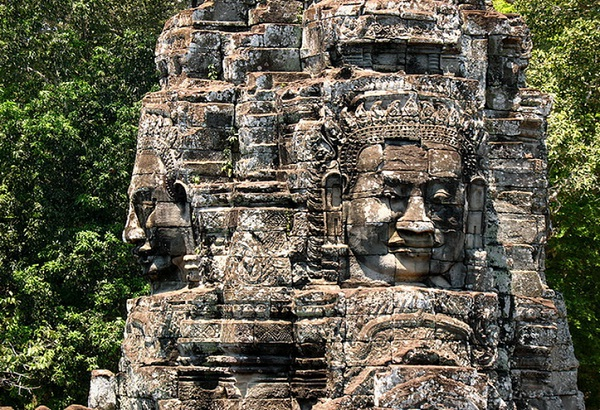 The mysterious faces in Bayon Temple