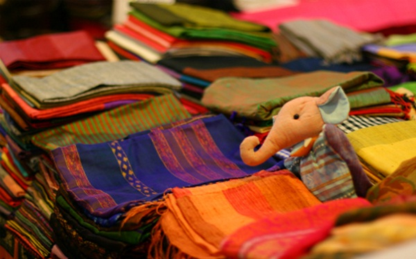 Cambodian silk products carry unique traits of the country