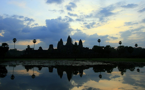 Angkor Wat is most mysterious at sunset