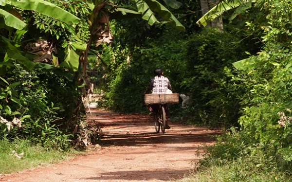 Countryside around Battambang is great place for a discovering trip by bike