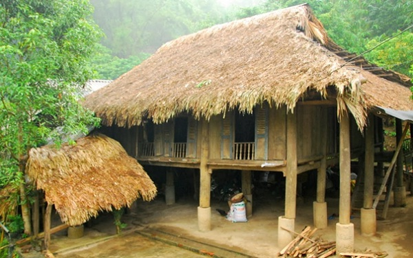 A traditional stilt of Muong People in Giang Mo village