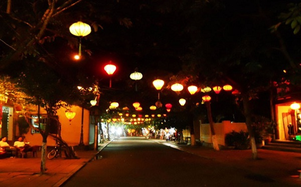 The town is more magical in gently warm colors of shining lanterns at nigh