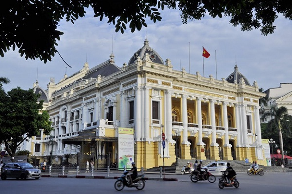 Hanoi Opera House, or Grand Opera House, was designed in the model structure of Paris Opera House