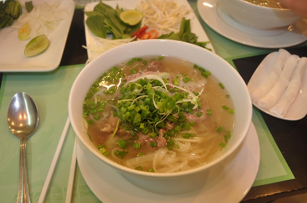 Pho, the most famous cuisine of Hanoi, can be found anywhere in the city