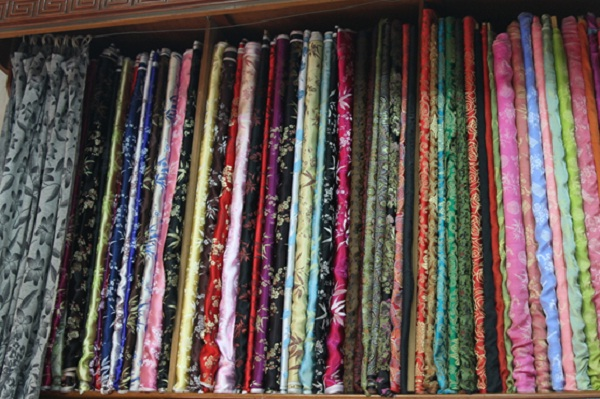 A set of textiles from Hoi An Silk Village