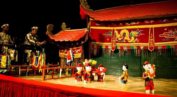 Image result for water puppet show hanoi