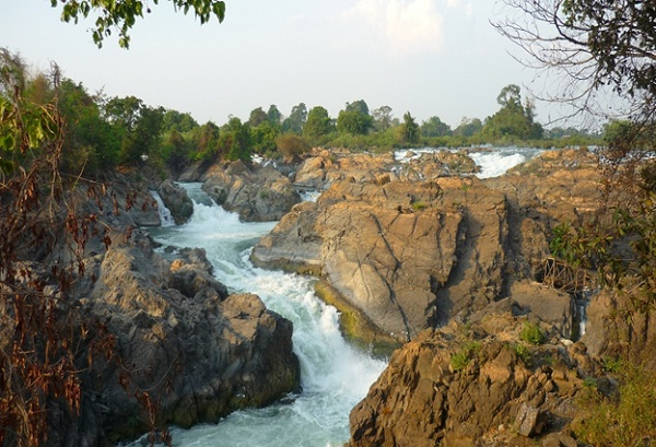 Beautiful rapids in Si Phan Don, Laos