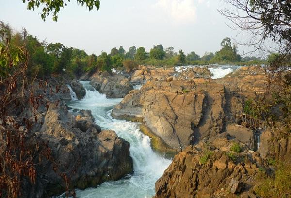 Beautiful rapids in Si Phan Don, Laos