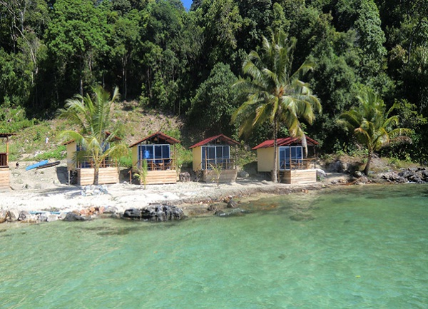 The lovely bungalows at Koh Rong Island