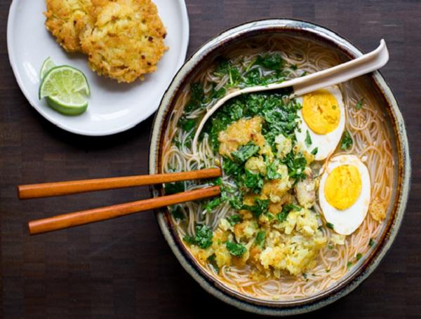 Mohinga- Burmese rice noodle soup