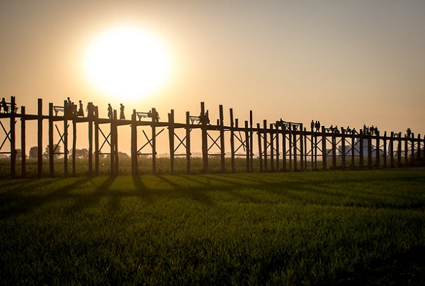 U Bein Bridge is a central part of the community with many daily activities of the local