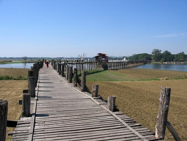 U Bein Bridge – the longest teak bridge in the world