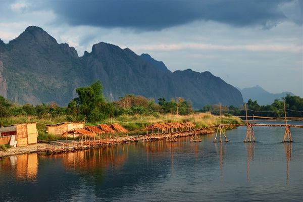 Vang Vieng is a riverside town in Central Laos