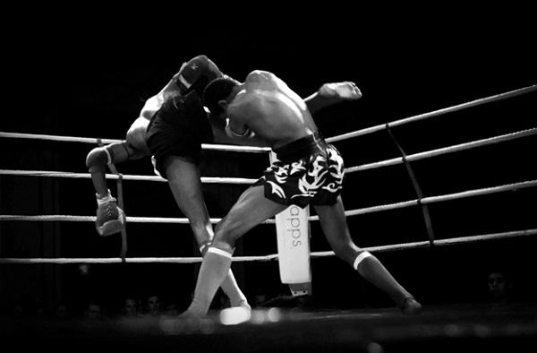 In a Muay Thai fight night