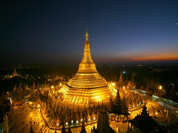 Shwedagon viewed from above