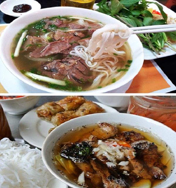 Pho Bo and Bun Cha both win tourist's heart at the first try