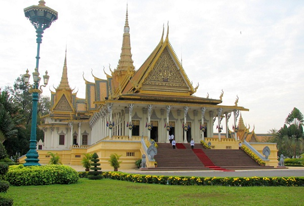 Royal Palace serves as the royal residence of King Cambodia