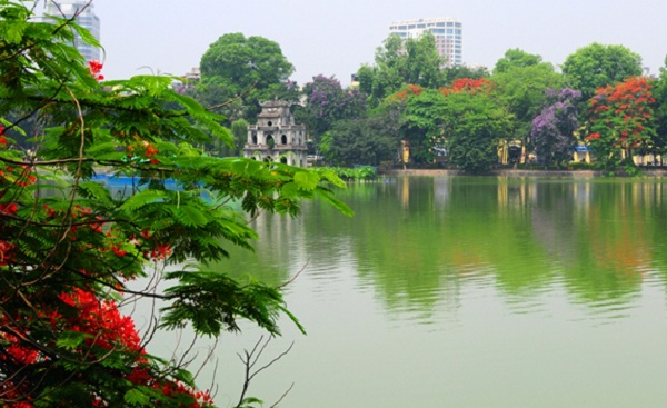 Sword Lake, one of the most beautiful lakes in Hanoi
