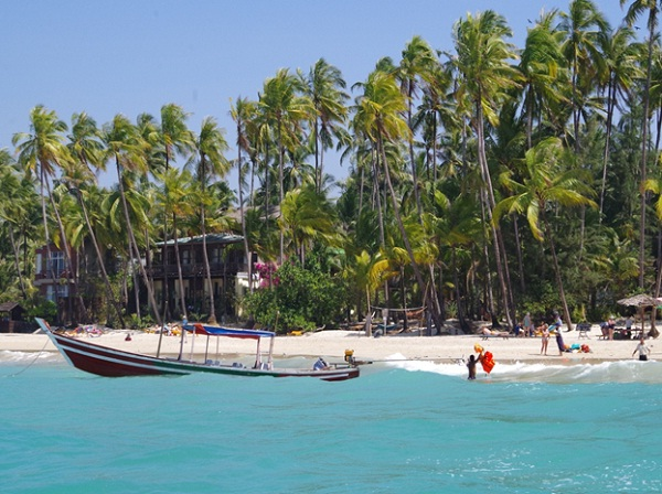 In Ngapali Beach, you can relax under a palm tree and go swimming occasionally