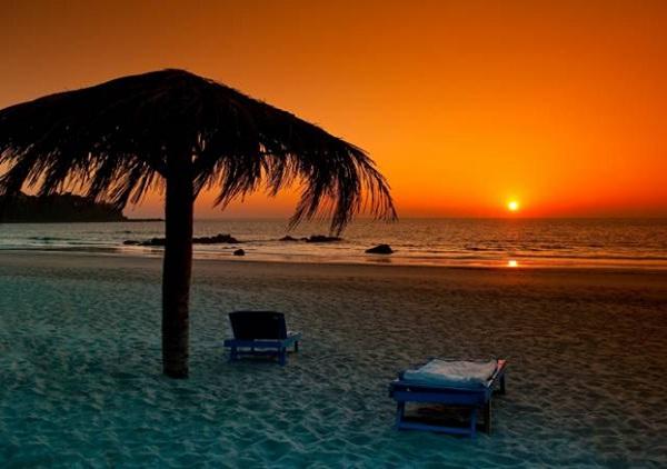 Ngapali Beach at sunset