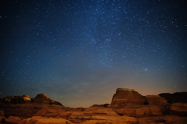 Marvelous night sky in Sam Pan Bok