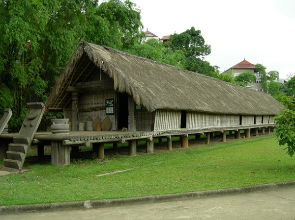 The modeling house of Ede people is constructed in the Museum of Ethnology