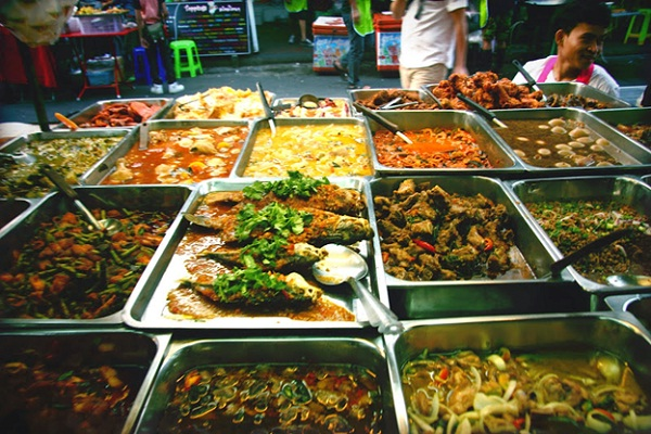 Diverse food from many countries