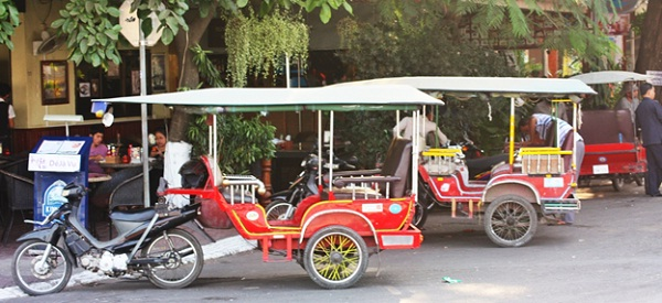You can see tuk tuk in every road of Cambodia