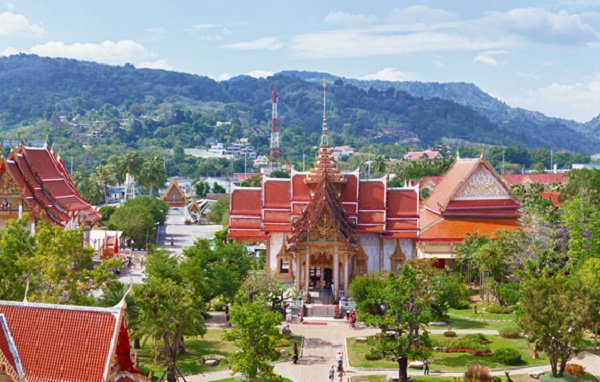 Wat Chalong from above