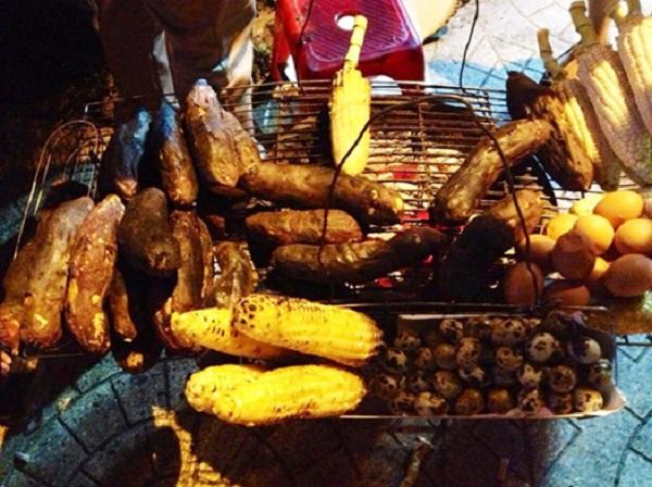 Grilled potato and corn in Da Lat