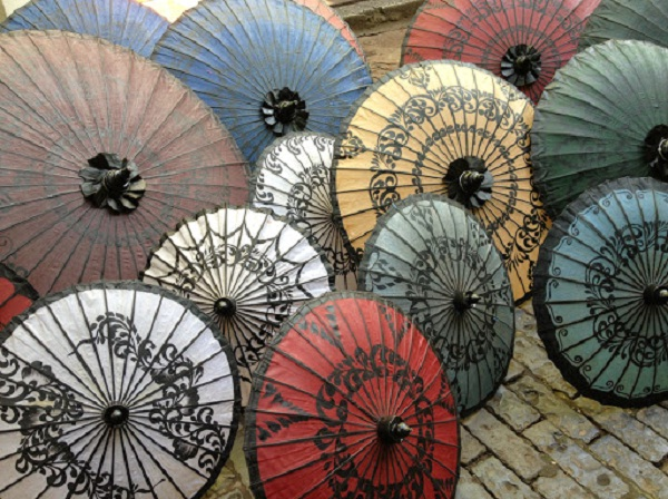 Myanmar Traditional Pathein Umbrellas