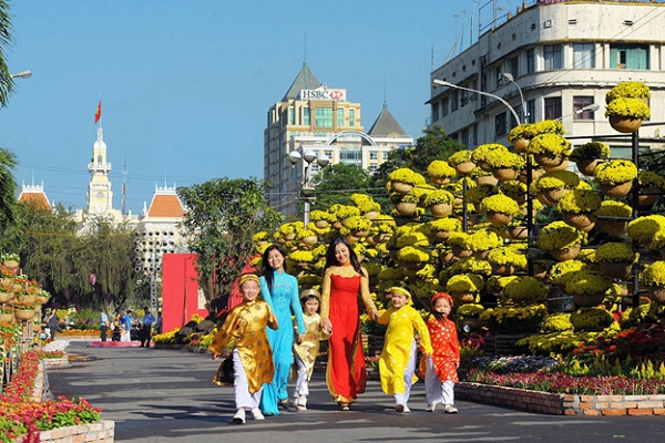 Tet Flower Street in Ho Chi Minh City