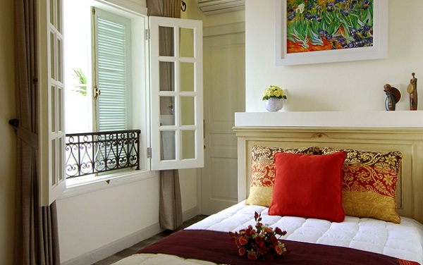 Rooms are individually designed with modern artwork and charming interiors