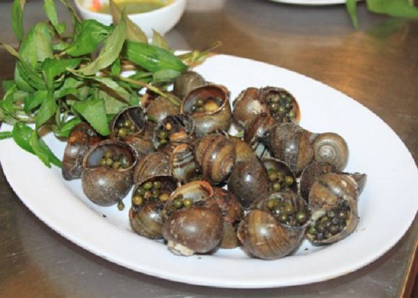 The grilled pepper snails